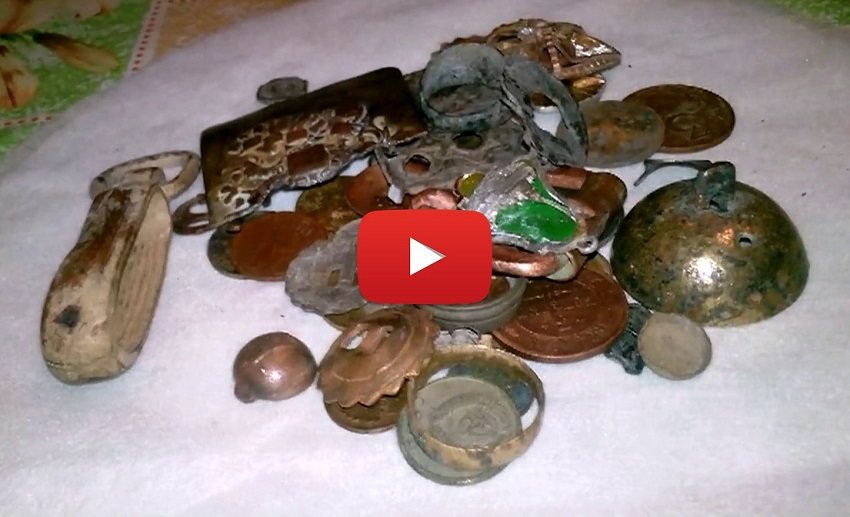 Как ищут монеты металлоискателем видео.